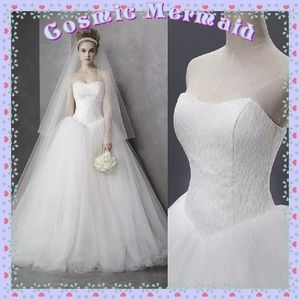 Dresses & Skirts - 🆕⭐️Delicate Princess Lace Wedding Gown Dress⭐️